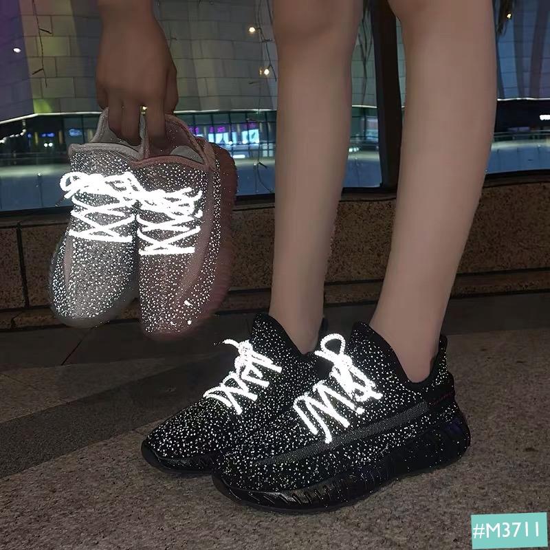 giày thể thao phản quang nữ đẹp, lấp lasnmh như những giọt sương mai.
