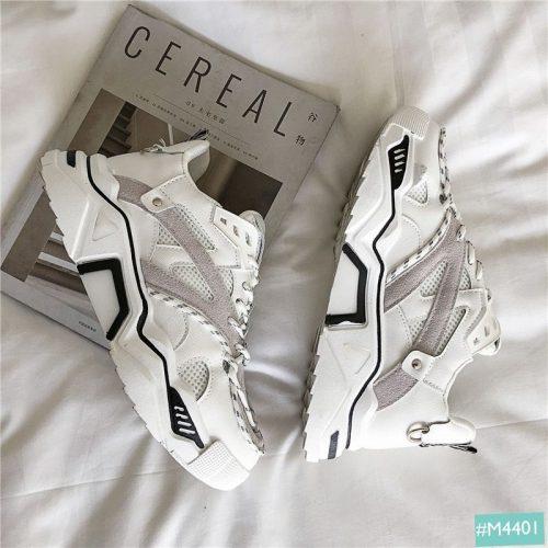 giày thể thao nam trắng góc nghiêng thần thánh