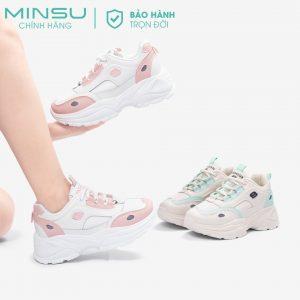 Giày thể thao sneaker độn đế nữ