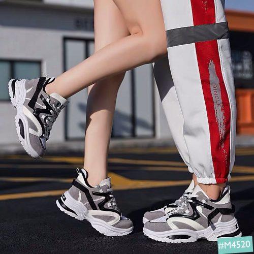 Giày Sneaker Cặp Đôi Nam Nữ Độn Đế