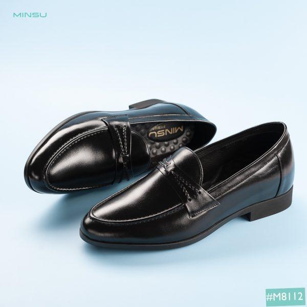giày da nâng đế da bò thật 100%