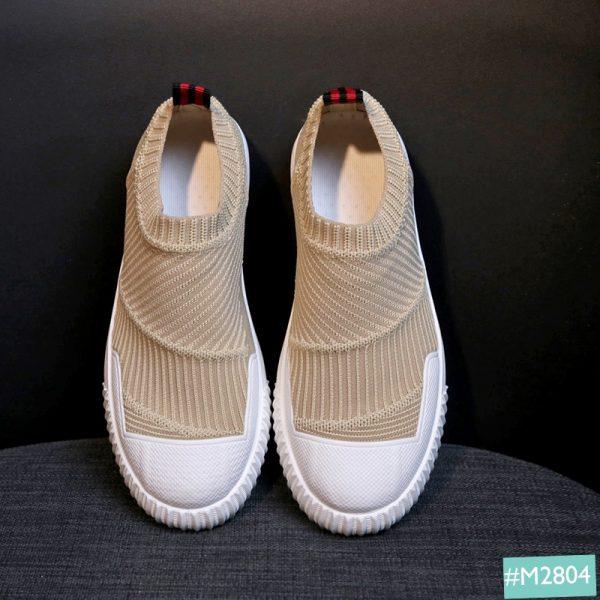 Giày lười nữ màu sữa