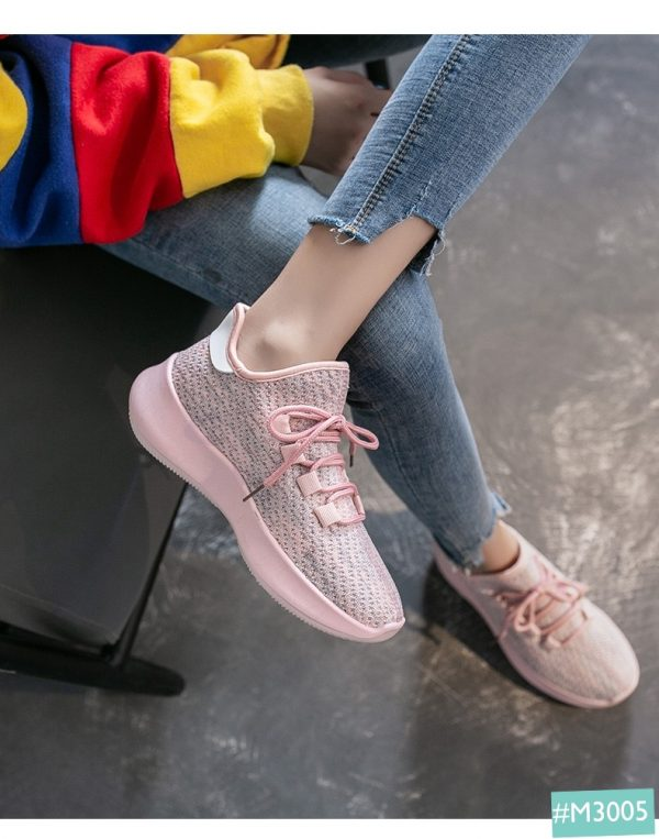 giày thể thao nữ màu hồng