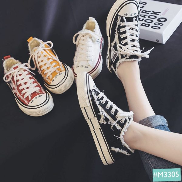 Giày sneaker nữ Xvessell styles rách phong cách mới nhất , siêu Hot Trend 2020