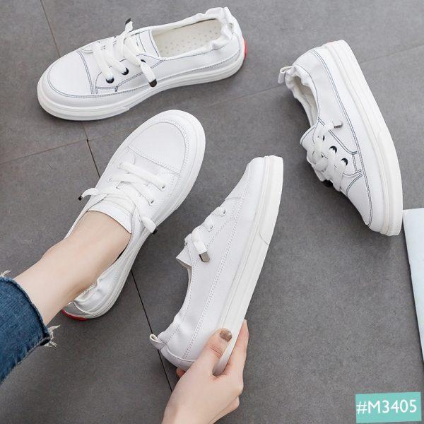 Giày slipon nữ màu trắng sale 199k