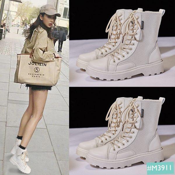 giày boot nữ vải cổ cao