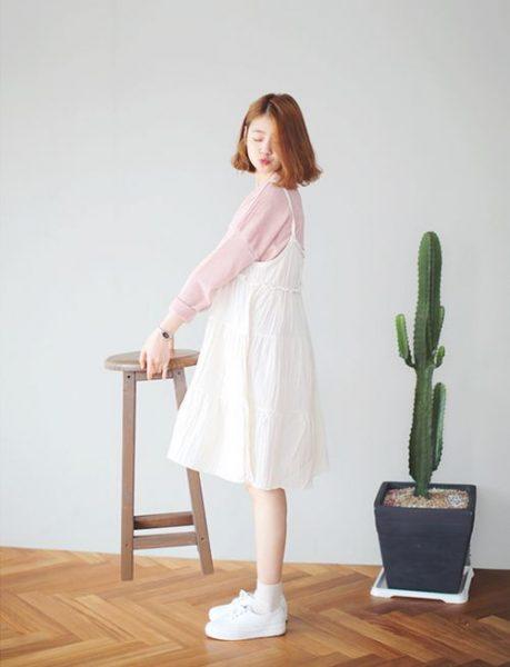 Giày Bata trắng phong cách Ulzzang