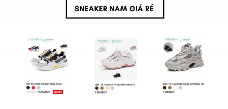 Top 3 dôi Sneaker nam giá rẻ 2021