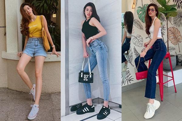 Khánh Vân diện giày thể thao