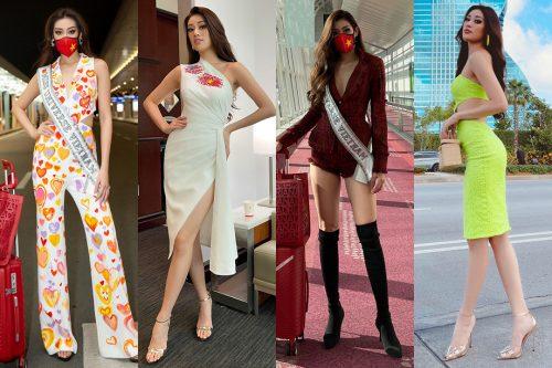 Trang phục di thi của Khánh Vân