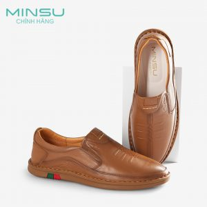 Giày lười nam da bò cao cấp MINSU M8002